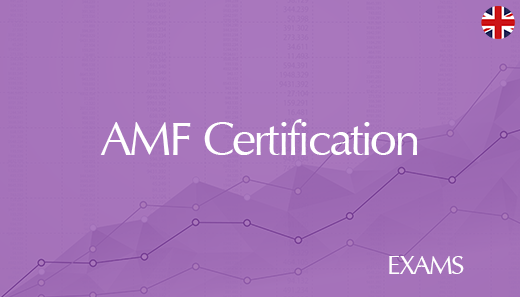 AMF external certification - EXAM in supervised room 2020